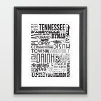 Nashville, Tennessee Framed Art Print