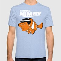 Finding Nimoy Mens Fitted Tee Tri-Blue SMALL