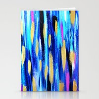 The Blues - Abstract Art Stationery Cards