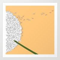 Flying ants Art Print