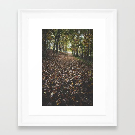 The light at the end Framed Art Print