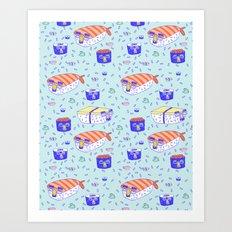 Incognito Sushi Art Print