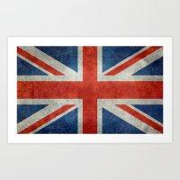 UK British Union Jack Fl… Art Print
