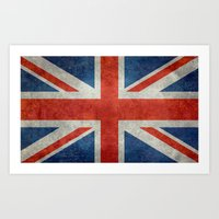 UK British Union Jack Fl… Art Print