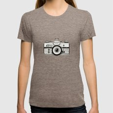 Camera Womens Fitted Tee Tri-Coffee SMALL