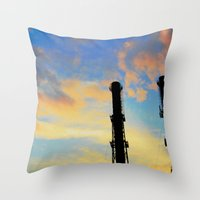Clouds makers Throw Pillow
