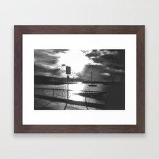 Morning Awakes The Harbo… Framed Art Print