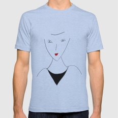 Portrait of a stranger Mens Fitted Tee Athletic Blue SMALL