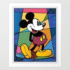Mickey Spotlight Art Print