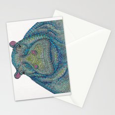 Hippie-Potamus (Blue) Stationery Cards