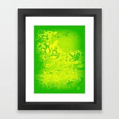 Green & Yellow Abstract Framed Art Print