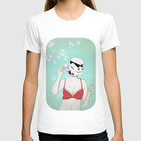 Bubbles Womens Fitted Tee White SMALL