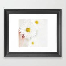 White. Framed Art Print