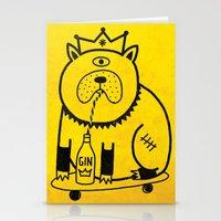 My dog loves gin Stationery Cards