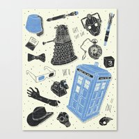 Artifacts: Doctor Who Canvas Print