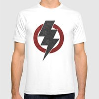 lightning strike zone Mens Fitted Tee White SMALL