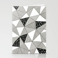 Pattern Triangles Stationery Cards
