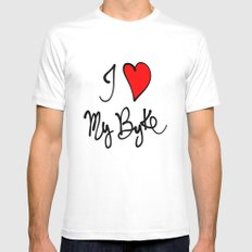 I love my bike White SMALL Mens Fitted Tee