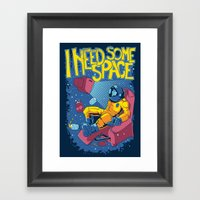 I need some space Framed Art Print