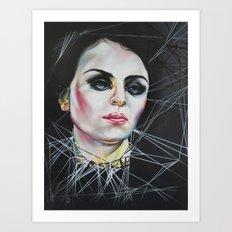 Glassy eyes Art Print