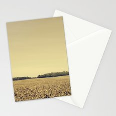 Lonely Field in Brown Stationery Cards