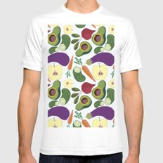 vegetables Mens Fitted Tee White SMALL