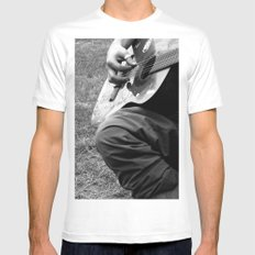 Music. SMALL White Mens Fitted Tee