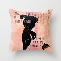 Better to Light a Candle Throw Pillow