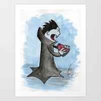Vampire Eating A Waterme… Art Print
