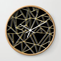 Ab Gold and Silver Wall Clock