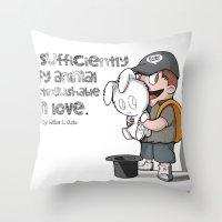 Fluffy Love Throw Pillow