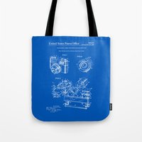 Camera Patent 1963 - Blueprint Tote Bag