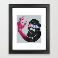 Framed Art Print featuring Now In Eye-Popping 3D! by Michael Mossner