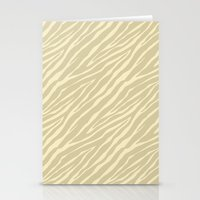 Gold Zebra Print Stationery Cards