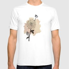 dahlias White SMALL Mens Fitted Tee