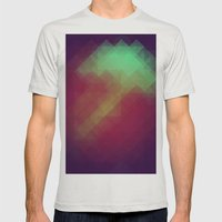 Jelly Pixel Mens Fitted Tee Silver SMALL