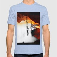 Isolation Fall Mens Fitted Tee Tri-Blue SMALL