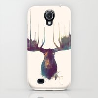 Galaxy S4 Cases featuring Moose by Amy Hamilton
