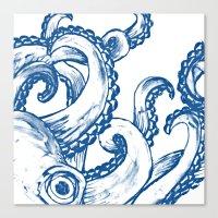 Blue Octopus Canvas Print