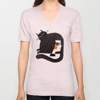 CAT HAIR Unisex V-Neck