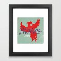 Phoenixes Framed Art Print