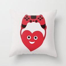 Gaming Heart Throw Pillow