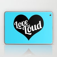 Love Out Loud - Black & White Laptop & iPad Skin
