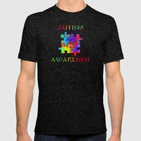 Autism Awareness Mens Fitted Tee Tri-Black SMALL