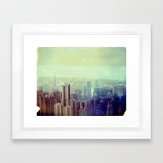 Hong Kong Polaroid Framed Art Print