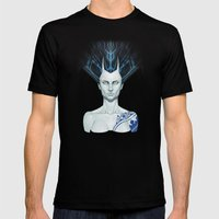 Porcelaine Mens Fitted Tee Black SMALL