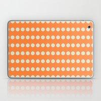 Circular Orange Dots Pattern Laptop & iPad Skin