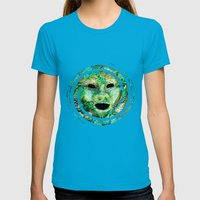 MASKED Womens Fitted Tee Teal SMALL