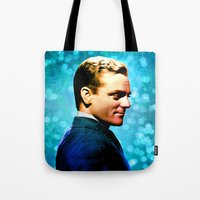 James Cagney, blue screen Tote Bag
