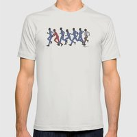 Away Mission: Enterprise Mens Fitted Tee Silver SMALL